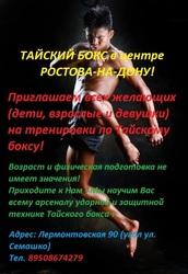 Тайский бокс в Ростове-на-Дону (в центре города)
